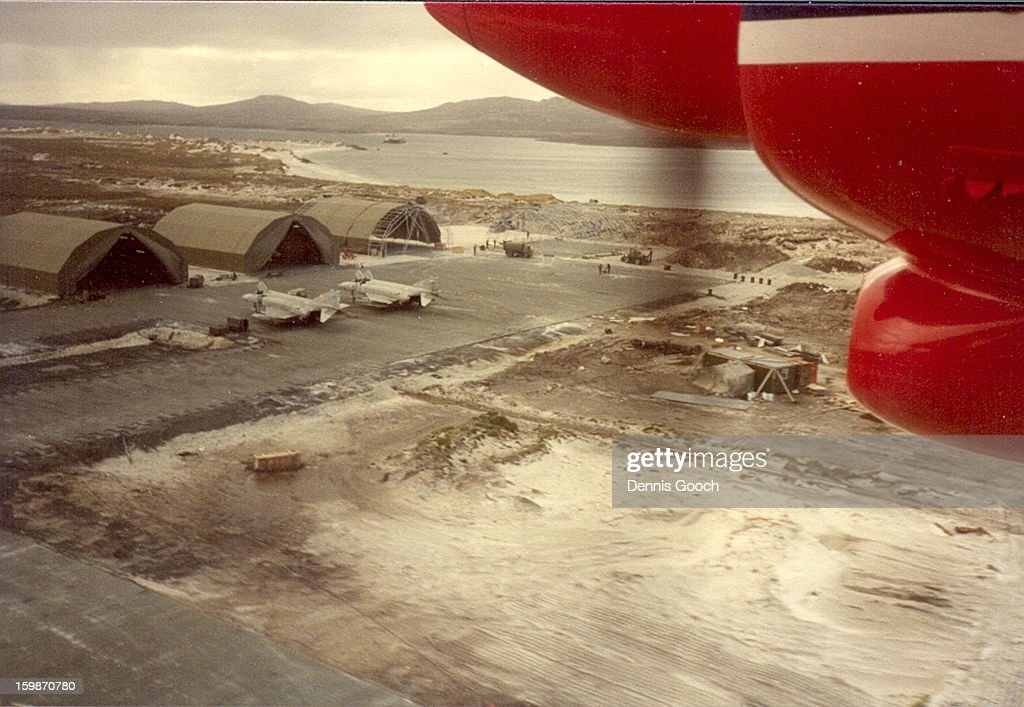 CONTENT] Returning to Stanley Airfield after an Islander flight from Volunteer Point. November 1983