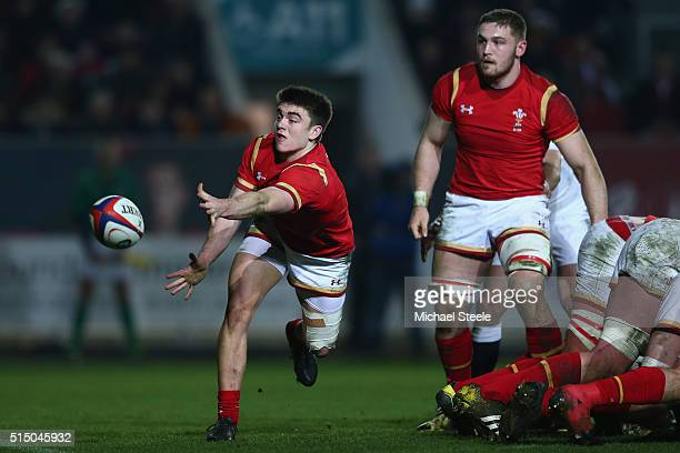 Reuben MorganWilliams of Wales U20 during the Six Nations match between England U20 and Wales U20 at Ashton Gate on March 11 2016 in Bristol England