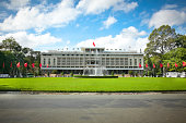 Reunification Palace, landmark in Ho Chi Minh City, Vietnam or Independence Palace (DINH THONG NHAT)  was home and workplace of President of South Vietnam.
