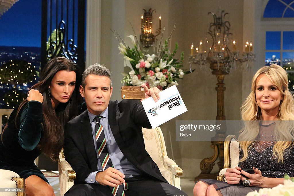 HILLS -- 'Reunion' Episode 320 & 321 -- Pictured: (l-r) Kyle Richards, Andy Cohen, Taylor Armstrong --
