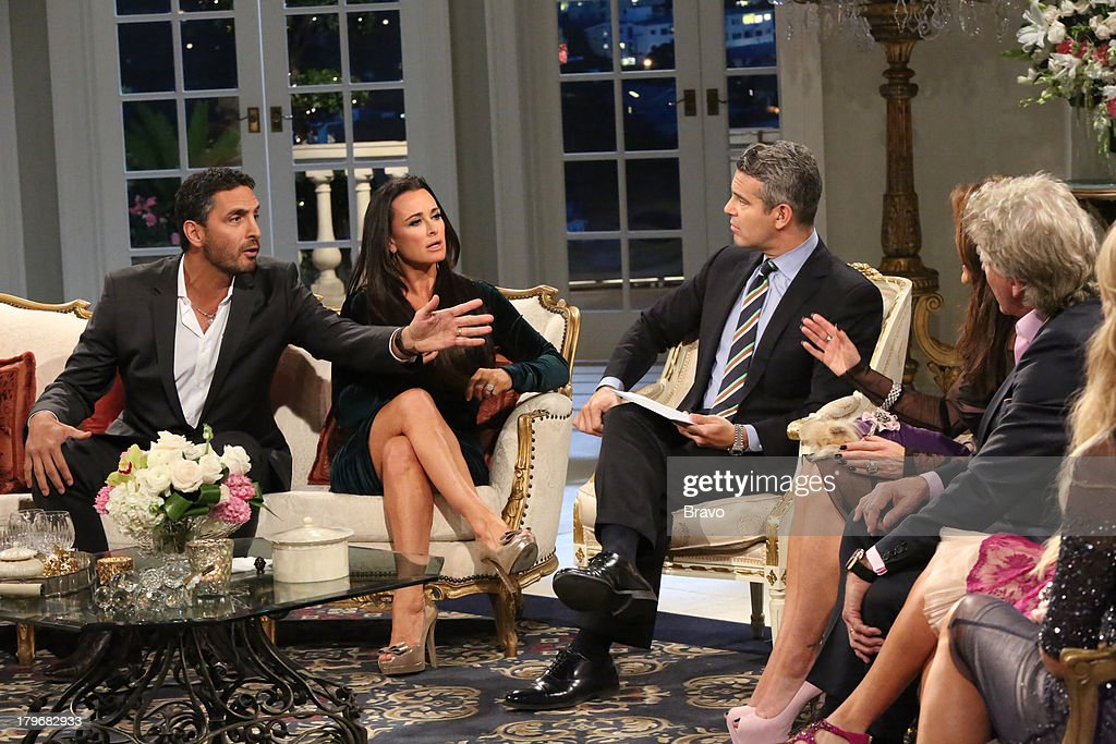 HILLS -- 'Reunion' Episode 320 & 321 -- Pictured: (l-r) Mauricio Umansky, <a gi-track='captionPersonalityLinkClicked' href=/galleries/search?phrase=Kyle+Richards&family=editorial&specificpeople=2586434 ng-click='$event.stopPropagation()'>Kyle Richards</a>, Andy Cohen --