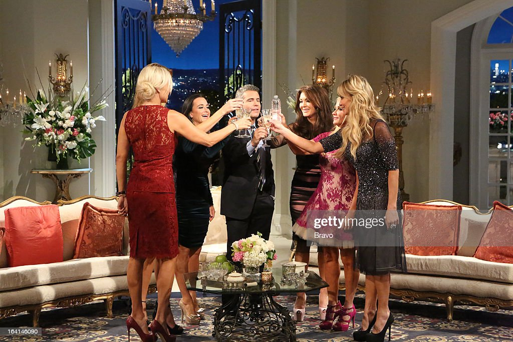 HILLS -- 'Reunion' Episode 320 & 321 -- Pictured: (l-r) Yolanda H. Foster, Kyle Richards, Andy Cohen, Lisa Vanderpump, Kim Richards, Taylor Armstrong --