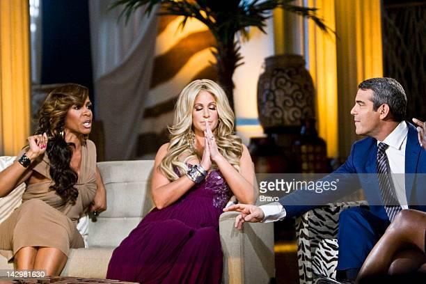 ATLANTA 'Reunion' Episode 421 Pictured Sheree Whitfield Kim Zolciak Andy Cohen