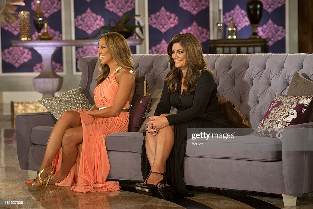 """JERSEY -- """"'Reunion' Episode 519 & 520 -- Pictured: (l-r) <a gi-track='captionPersonalityLinkClicked' href=/galleries/search?phrase=Melissa+Gorga&family=editorial&specificpeople=7306775 ng-click='$event.stopPropagation()'>Melissa Gorga</a>, <a gi-track='captionPersonalityLinkClicked' href=/galleries/search?phrase=Kathy+Wakile&family=editorial&specificpeople=7306776 ng-click='$event.stopPropagation()'>Kathy Wakile</a> --"""