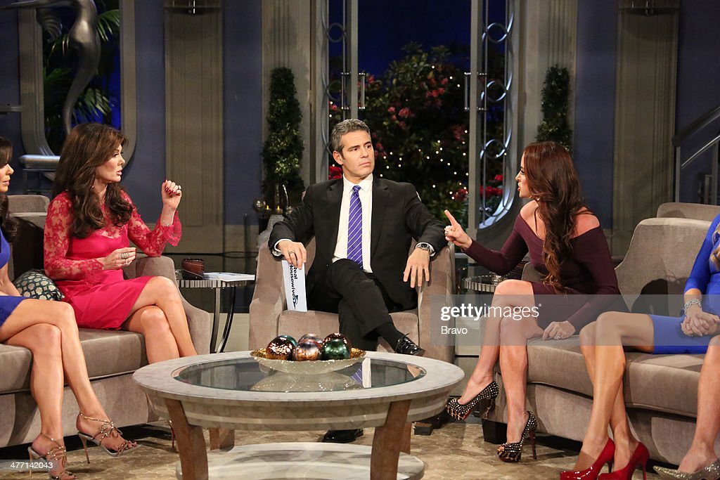HILLS -- 'Reunion' Episodes 420, 421, 422 -- Pictured: (l-r) <a gi-track='captionPersonalityLinkClicked' href=/galleries/search?phrase=Lisa+Vanderpump&family=editorial&specificpeople=6834933 ng-click='$event.stopPropagation()'>Lisa Vanderpump</a>, host Andy Cohen, <a gi-track='captionPersonalityLinkClicked' href=/galleries/search?phrase=Kyle+Richards&family=editorial&specificpeople=2586434 ng-click='$event.stopPropagation()'>Kyle Richards</a> --