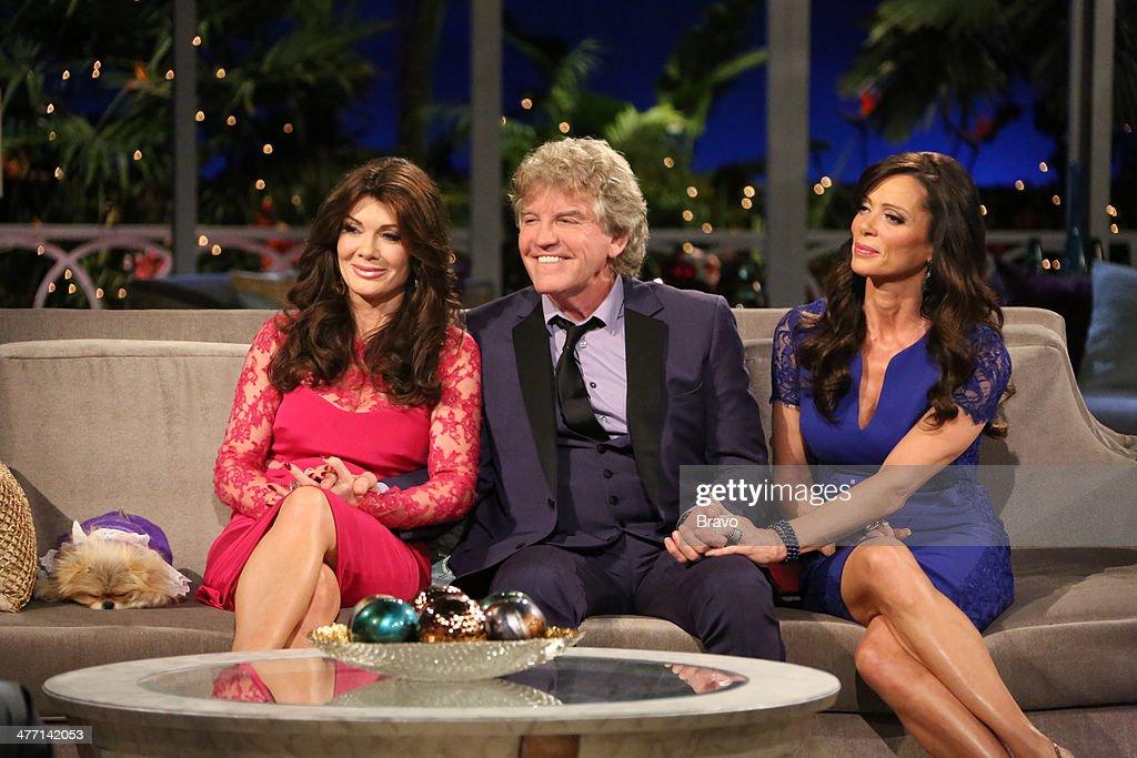 HILLS -- 'Reunion' Episodes 420, 421, 422 -- Pictured: (l-r) Lisa Vanderpump, Ken Todd, Giggy, Carlton Gebbia --