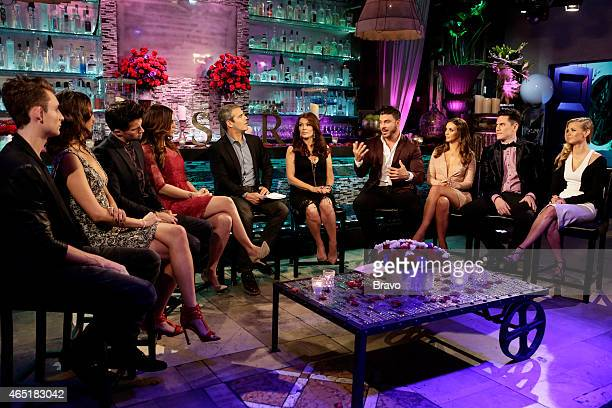 RULES 'Reunion' Pictured James Kennedy Kristen Doute Tom Schwartz Katie Maloney Andy Cohen Lisa Vanderpump Jax Taylor Scheana Marie Tom Sandoval...