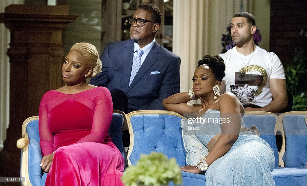 ATLANTA -- 'Reunion' -- Pictured: (l-r) Nene Leakes, <a gi-track='captionPersonalityLinkClicked' href=/galleries/search?phrase=Gregg+Leakes&family=editorial&specificpeople=10059103 ng-click='$event.stopPropagation()'>Gregg Leakes</a>, <a gi-track='captionPersonalityLinkClicked' href=/galleries/search?phrase=Phaedra+Parks&family=editorial&specificpeople=4191319 ng-click='$event.stopPropagation()'>Phaedra Parks</a>, Apollo Nido --