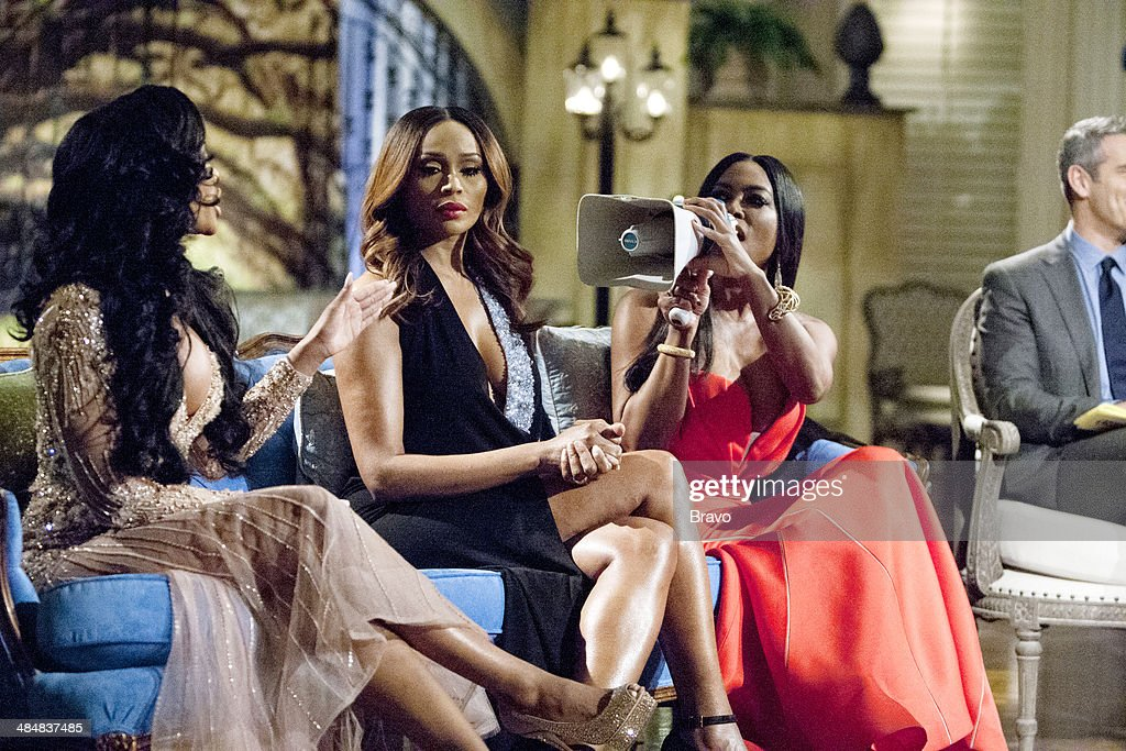 ATLANTA -- 'Reunion' -- Pictured: (l-r) Porsha Stewart, <a gi-track='captionPersonalityLinkClicked' href=/galleries/search?phrase=Cynthia+Bailey&family=editorial&specificpeople=3055318 ng-click='$event.stopPropagation()'>Cynthia Bailey</a>, <a gi-track='captionPersonalityLinkClicked' href=/galleries/search?phrase=Kenya+Moore&family=editorial&specificpeople=678382 ng-click='$event.stopPropagation()'>Kenya Moore</a> --