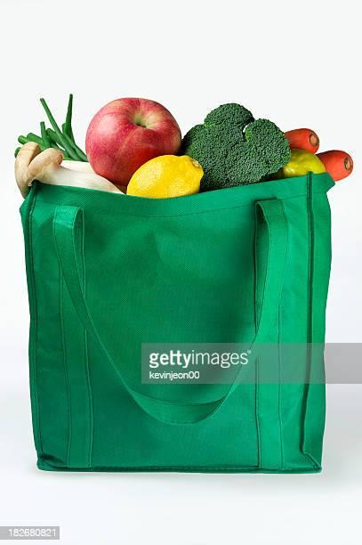Bolsa reutilizable ecológicos de compra de comestibles