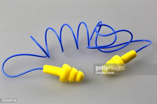 Reusable flanged type industrial ear plugs with neck strap