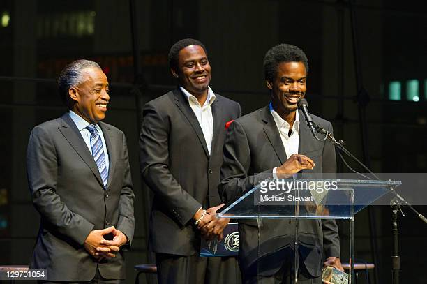 Rev Al Sharpton actor Lamman Rucker and actor Chris Rock attend the 2nd Annual Triumph Awards at the Rose Theater Jazz at Lincoln Center on October...