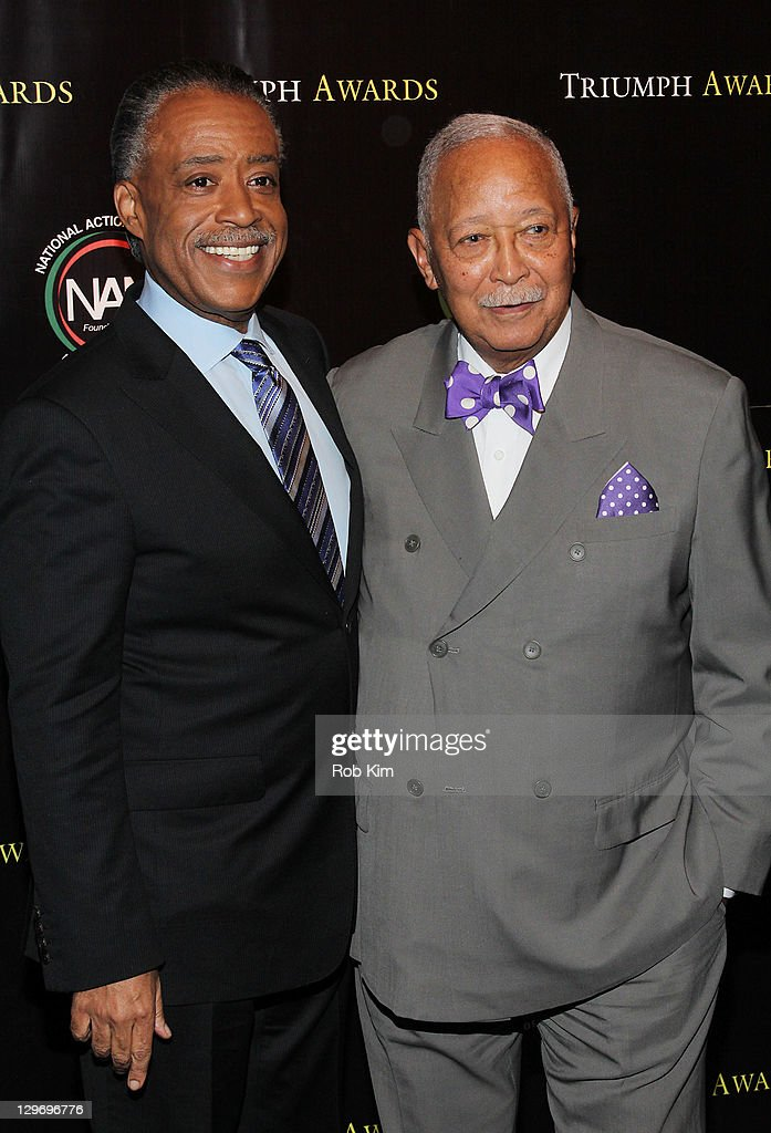 Rev. Al Sharpton and David Dinkins attend the 2nd Annual Triumph Awards at the Rose Theater, Jazz at Lincoln Center on October 19, 2011 in New York City.