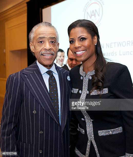 Rev Al Sharpton and Omarosa Manigault attend the Inagural Black History Month Awards Luncheon sponsored by the National Action Network at The Beverly...