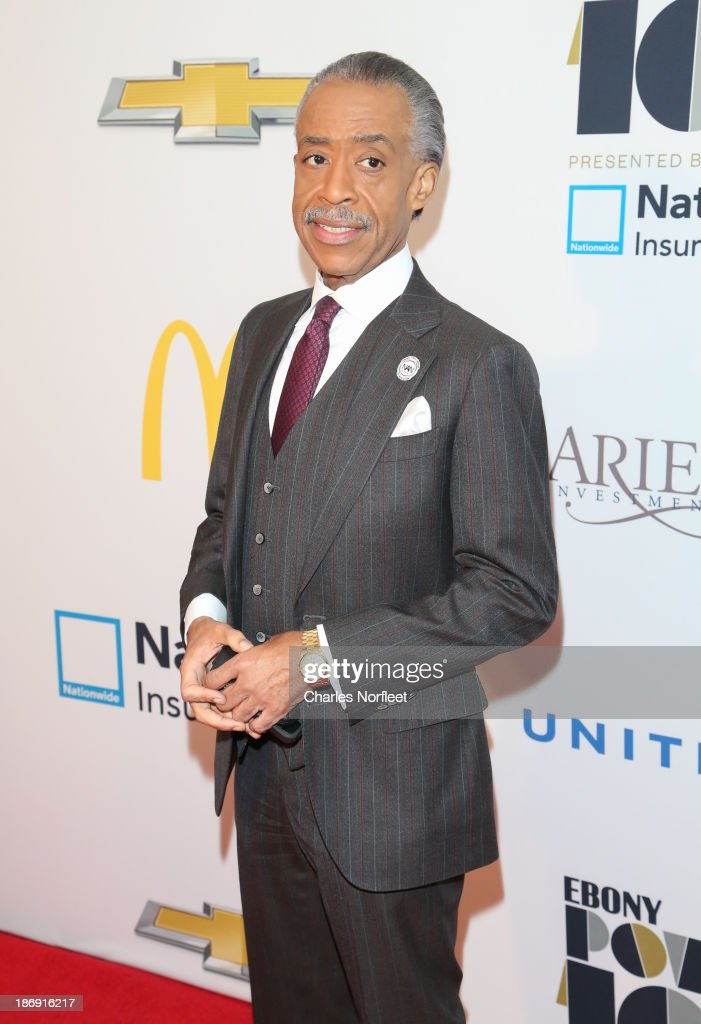 Rev. <a gi-track='captionPersonalityLinkClicked' href=/galleries/search?phrase=Al+Sharpton&family=editorial&specificpeople=202250 ng-click='$event.stopPropagation()'>Al Sharpton</a> attends the 2013 EBONY Power 100 List Gala at Frederick P. Rose Hall, Jazz at Lincoln Center on November 4, 2013 in New York City.
