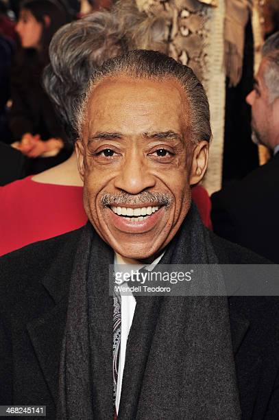 Rev Al Sharpton attends the Ralph Rucci show during MercedesBenz Fashion Week Fall 2014 at 151 West 26th Street on February 9 2014 in the Brooklyn...