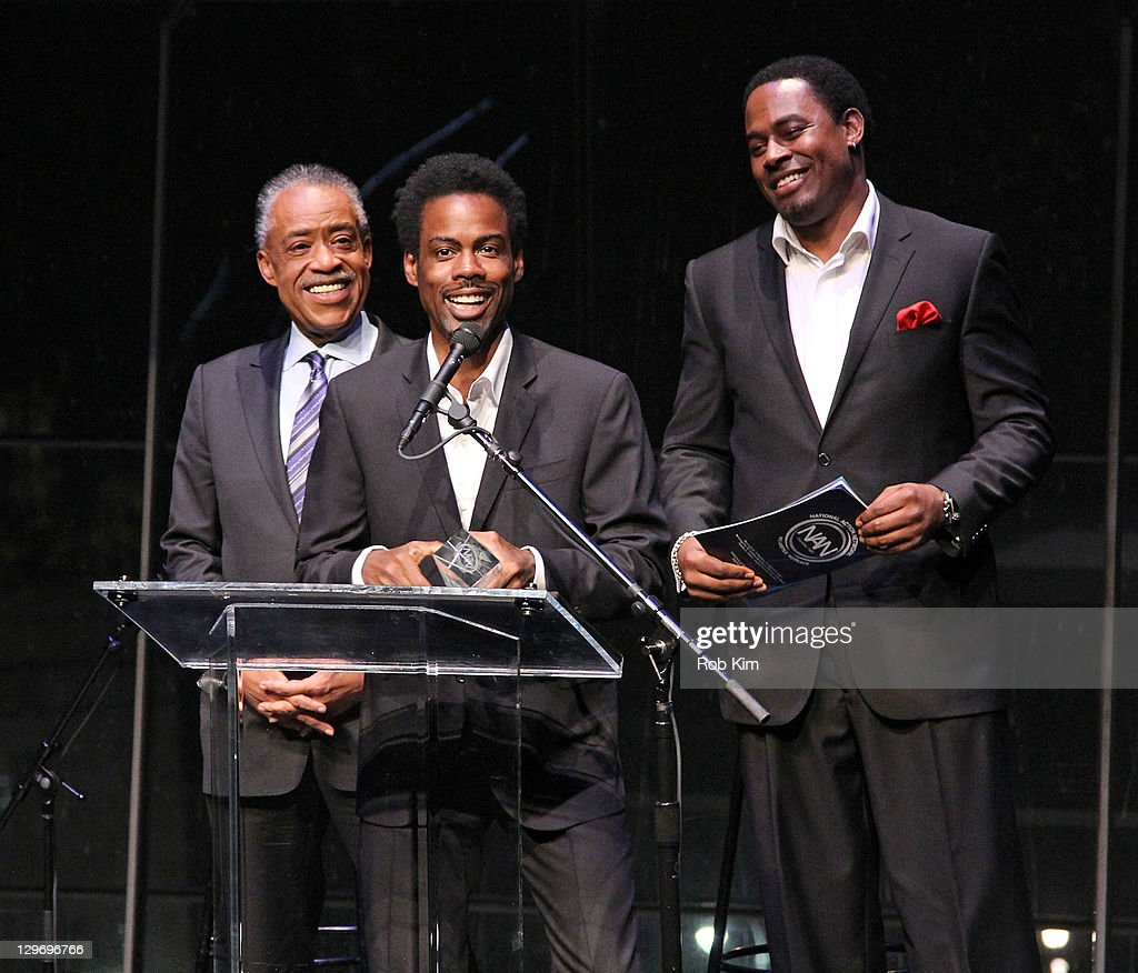 Rev. Al Sharpton, Chris Rock and Lamman Rucker attend the 2nd Annual Triumph Awards at the Rose Theater, Jazz at Lincoln Center on October 19, 2011 in New York City.
