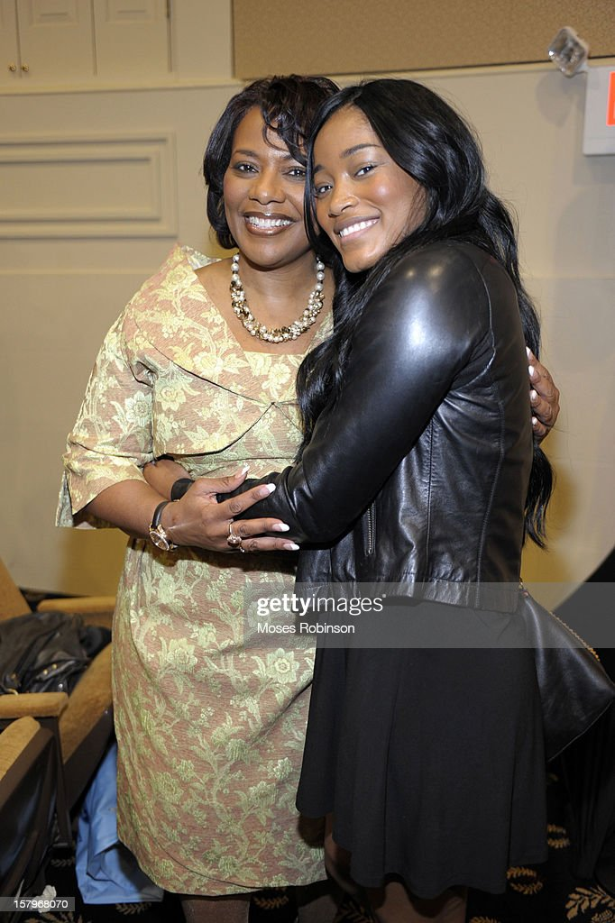 Rev. Dr. <a gi-track='captionPersonalityLinkClicked' href=/galleries/search?phrase=Bernice+King&family=editorial&specificpeople=786095 ng-click='$event.stopPropagation()'>Bernice King</a> and actress KeKe Palmer attend the 2012 Ford Freedom Usung Awards ceremony at Historic Academy of Medicine at Georgia Institute of Technology on December 7, 2012 in Atlanta, Georgia.