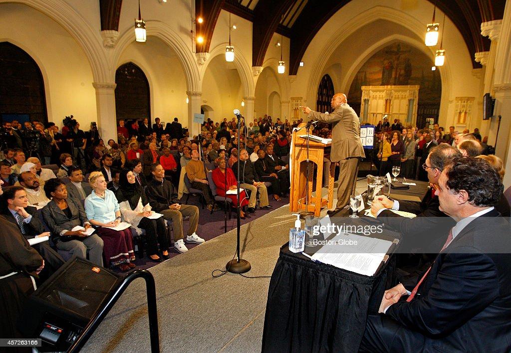 Rev hurmon hamilton from roxbury presbyterian church gives the opening