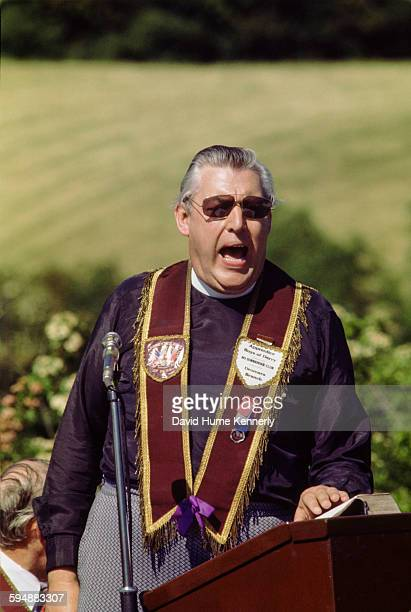Rev Ian Paisley addresses the audience at an event in June 1978 in Dromore Northern Ireland During this time Paisley was wellknown for his loyalist...