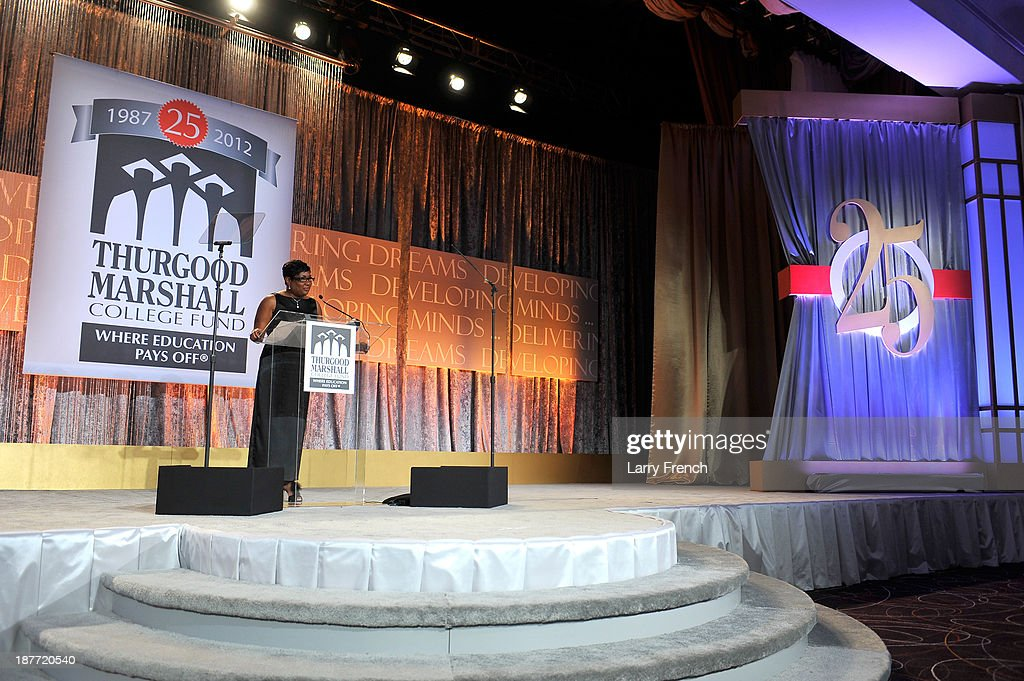 Rev. Jacquelyn P. Bradshaw speaks onstage at the Thurgood Marshall College Fund 25th Awards Gala on November 11, 2013 in Washington City.