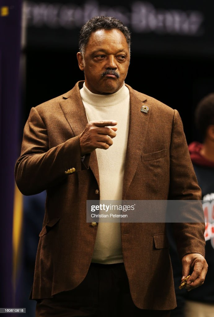 Rev. Jesse Jackson attends Super Bowl XLVII between the Baltimore Ravens and the San Francisco 49ers at the Mercedes-Benz Superdome on February 3, 2013 in New Orleans, Louisiana.