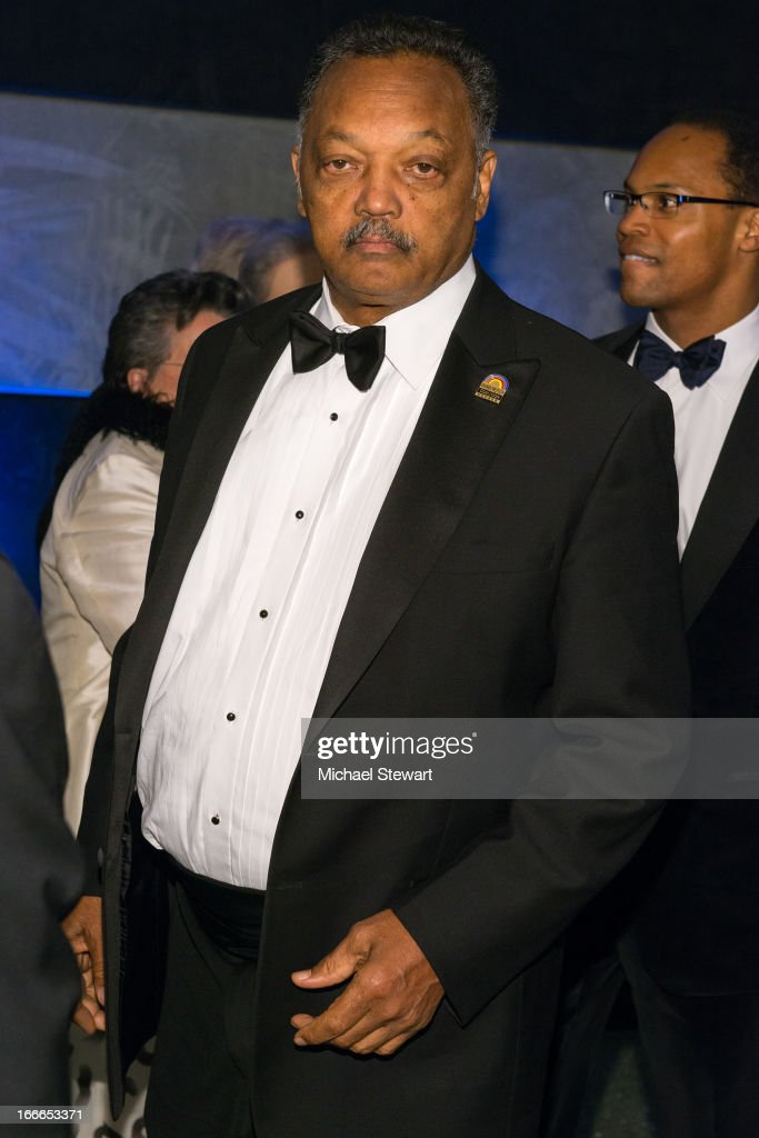 Rev Jesse Jackson attends the after party for the Broadway opening night for 'Motown The Musical' at Roseland Ballroom on April 14 2013 in New York...
