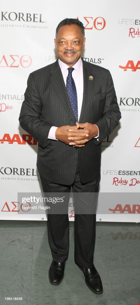 Rev. Jesse Jackson attends the 'Life's Essentials With Ruby Dee' screening at The Schomburg Center for Research in Black Culture on November 14, 2012 in New York City.