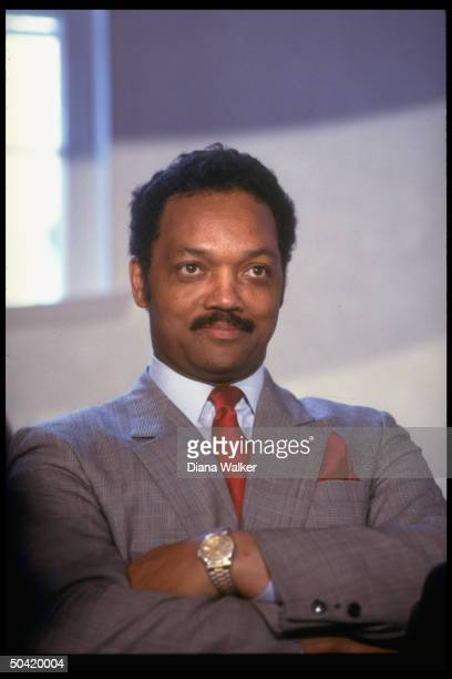 Rev Jesse Jackson during campaign stop on quest for Dem pres nomination