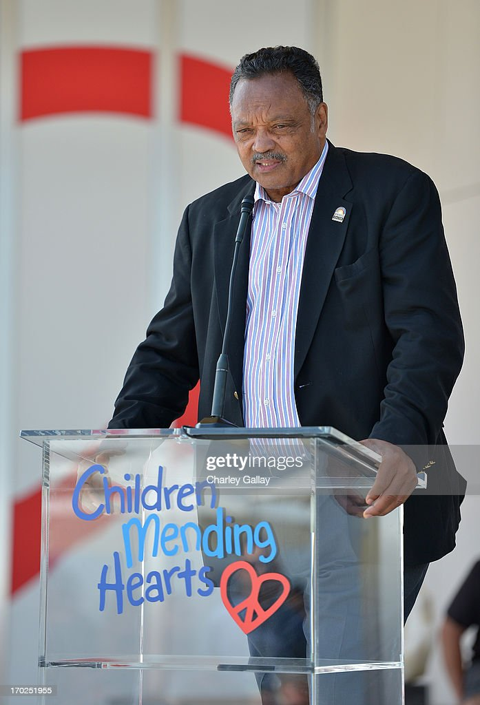 Rev. Jesse Jackson speaks at the 1st Annual Children Mending Hearts Style Sunday on June 9, 2013 in Beverly Hills, California.