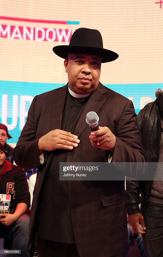 Rev Run visits BET's '106 & Park' at 106 & Park Studio on February 4, 2013 in New York City.