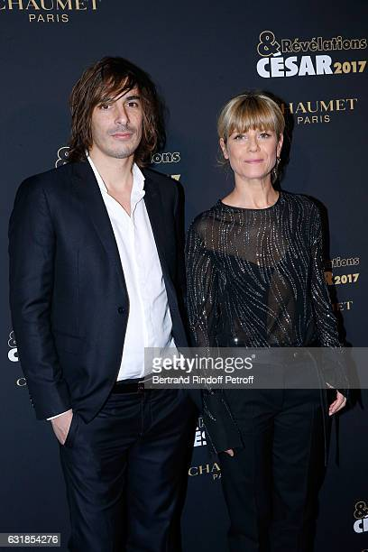 Revelation for 'Apnee' Thomas Scimeca and his sponsor Marina Fois attend the 'Cesar Revelations 2017' Photocall and Cocktail at Chaumet on January 16...