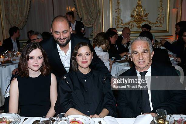Revelation for 'Bang Gang' Marilyn Lima her sponsor Marion Cotillard Jerome Commandeur and President of Academy des Cesars Alain Terzian attend the...