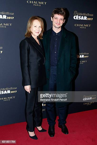 Revelation for 'Diamant noir' Niels Schneider and his sponsor Nathalie Baye attend the 'Cesar Revelations 2017' Photocall and Cocktail at Chaumet on...