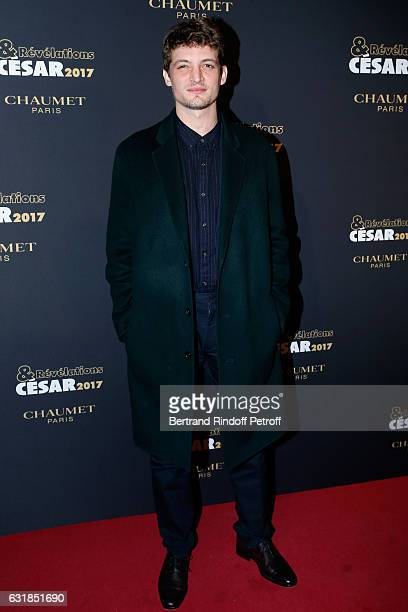 Revelation for 'Diamant noir' Niels Schneider attends the 'Cesar Revelations 2017' Photocall and Cocktail at Chaumet on January 16 2017 in Paris...