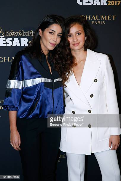 Revelation for Divines Oulaya Amamra and her sponsor Leila Bekhti attend the 'Cesar Revelations 2017' Photocall and Cocktail at Chaumet on January 16...