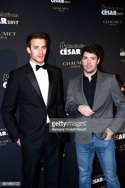 Revelation for 'Elle' Thomas Bloquet and his sponsor Thomas Cailley attend the 'Cesar Revelations 2017' Photocall and Cocktail at Chaumet on January...