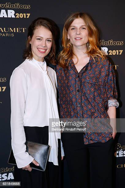 Revelation for 'Frantz' Paula Beer and her sponsor Cemence Poesy attend the 'Cesar Revelations 2017' Photocall and Cocktail at Chaumet on January 16...