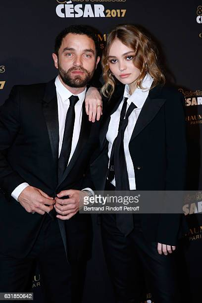 Revelation for 'La Danseuse' LilyRose Depp and her Uncle and Sponsor Guillaume Gouix attend the 'Cesar Revelations 2017' Photocall and Cocktail at...