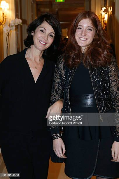 Revelation for 'Le ciel attendra' Naomi Amarger and her sponsor Zabou Breitman attend the 'Cesar Revelations 2017' Dinner at Hotel Meurice on January...