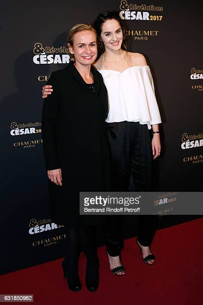 Revelation for 'Le ciel Attendra' Noemie Merlant and her sponsor Sandrine Bonnaire attend the 'Cesar Revelations 2017' Photocall and Cocktail at...