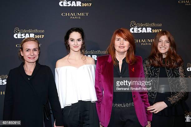 Revelation for 'Le ciel Attendra' Noemie Merlant her sponsor Sandrine Bonnaire the second Revelation for 'Le ciel attendra' Naomi Amarger and their...
