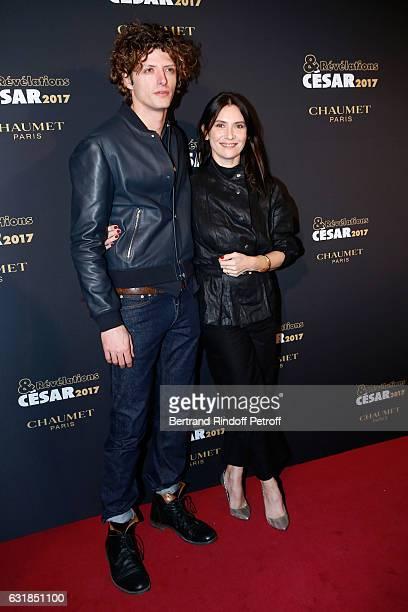 Revelation for 'L'Origine de la violence' Cesar Chouraqui and his sponsor Geraldine Pailhas attend the 'Cesar Revelations 2017' Photocall and...