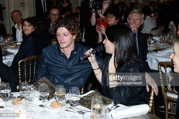 Revelation for 'L'Origine de la violence' Cesar Chouraqui and his sponsor Geraldine Pailhas attend the 'Cesar Revelations 2017' Dinner at Hotel...