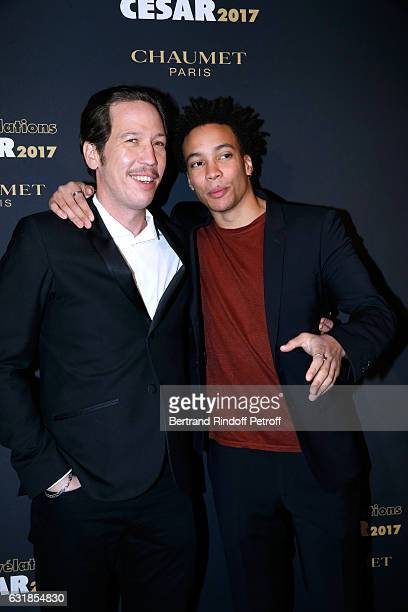 Revelation for 'Quand on a 17 ans' Corentin Fila and his sponsor Reda Kateb attend the 'Cesar Revelations 2017' Photocall and Cocktail at Chaumet on...