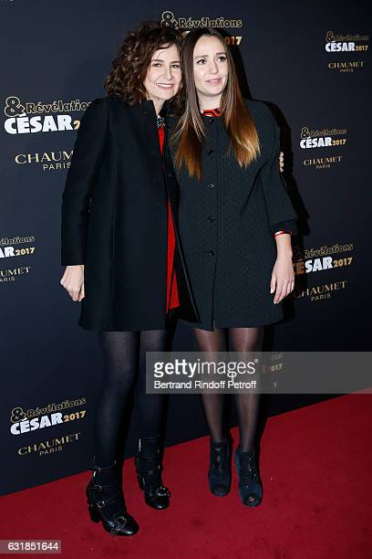 Revelation for 'Voir du pays' Ginger Roman and her sponsor Valerie Lemercier attend the 'Cesar Revelations 2017' Photocall and Cocktail at Chaumet on...