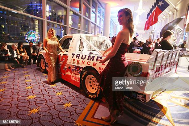 Revelers attend the Texas Black Tie and Boots inaugural ball on January 19 2017 in National Harbor Maryland Presidentelect Donald Trump will be sworn...