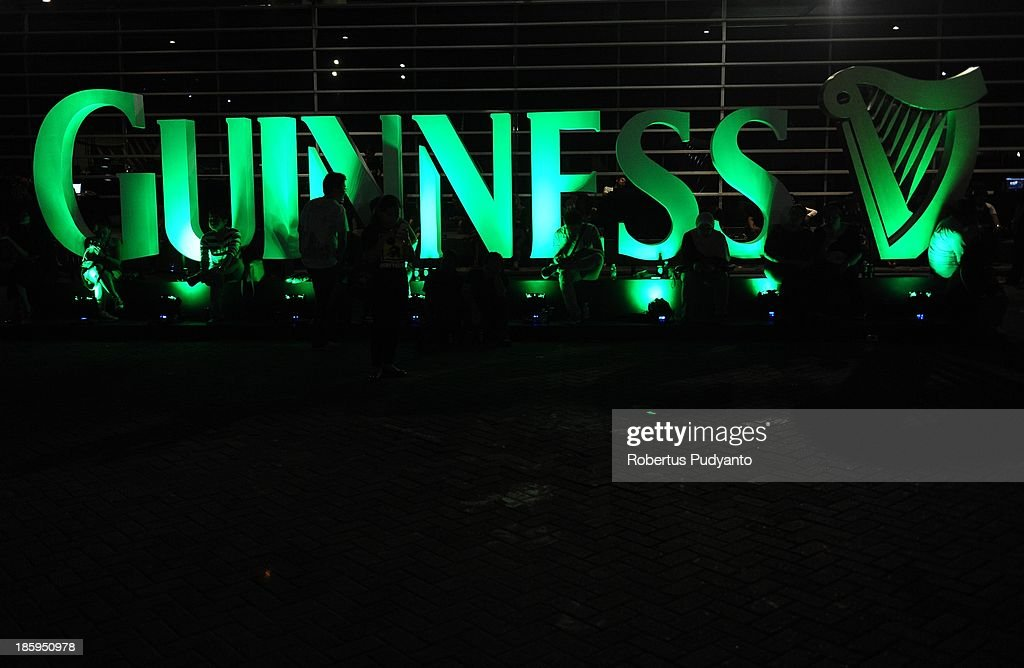 Revelers gather to celebrate Guinness Arthur's Day on October 26, 2013 in Jakarta, Indonesia. Arthur's Day sees fans come together to experience live music and cultural events all over the world in celebration of Arthur Guinness, the founder of Guinness brewing.