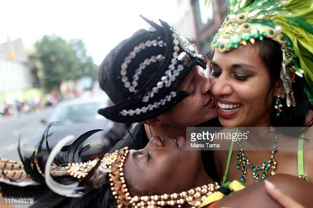 Revelers kiss following the Gay Pride parade on June 26 2011 in New York City The parade took on extra significance following Friday night's...