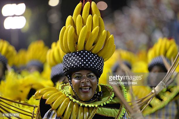 Revelers of the Grande Rio samba school perform during the first night of carnival parade at the Sambadrome in Rio de Janeiro on March 2 2014 AFP...